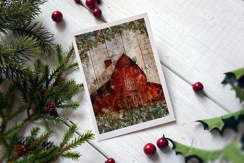 Farm Animal Collage Print No. 9012-Blank Note Card
