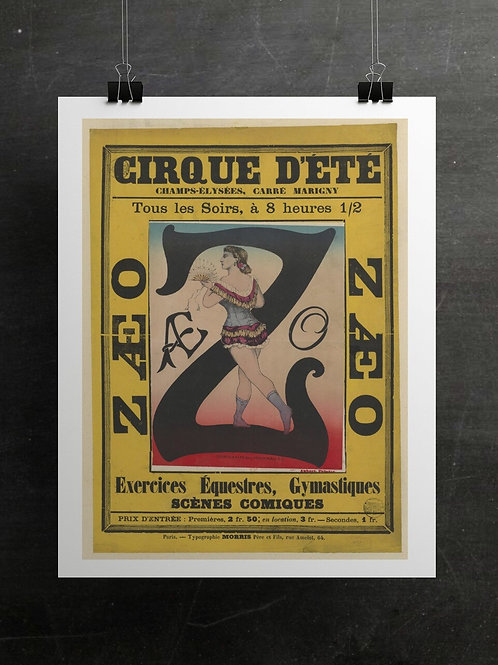 French Circus Print-Number 006