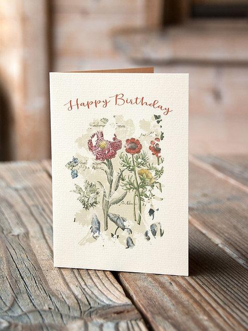 Happy Birthday No. 11247-Blank Note Card