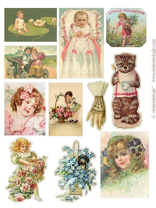 Vintage Ephemera Embellishments-No 40173-Digital Download