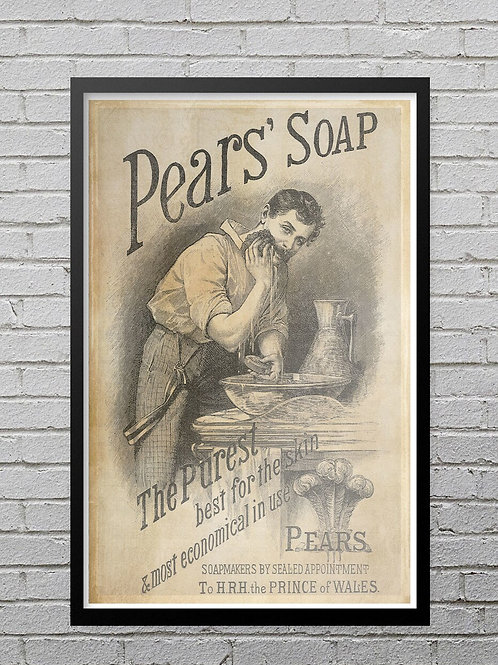 Print of 1886 Ad for Pear's Soap No.0027-Blank Note Card