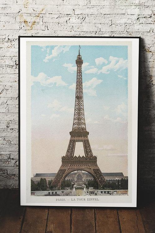 Eiffel Tower Print-Number 0954