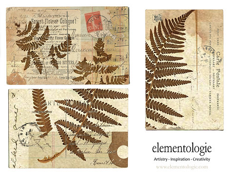 Vintage Botanical French Postcard Sheet- No 9012-Digital Collage Sheet Downl