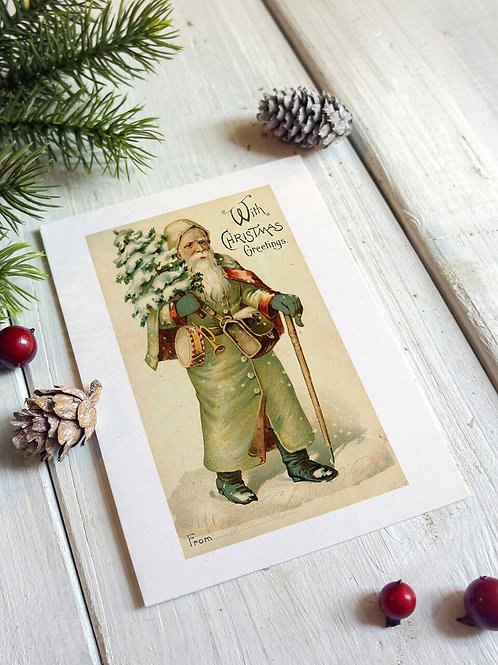 Victorian Santa No.248 - Blank Card