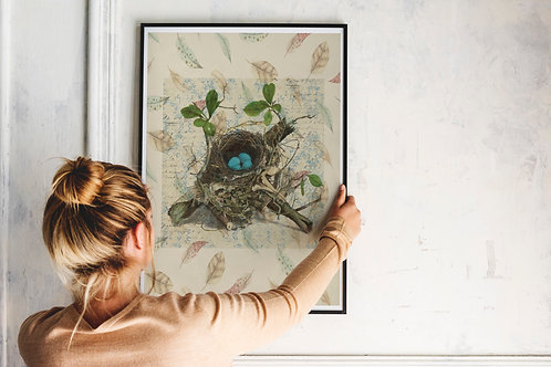 Bird Nest Print-Number 003