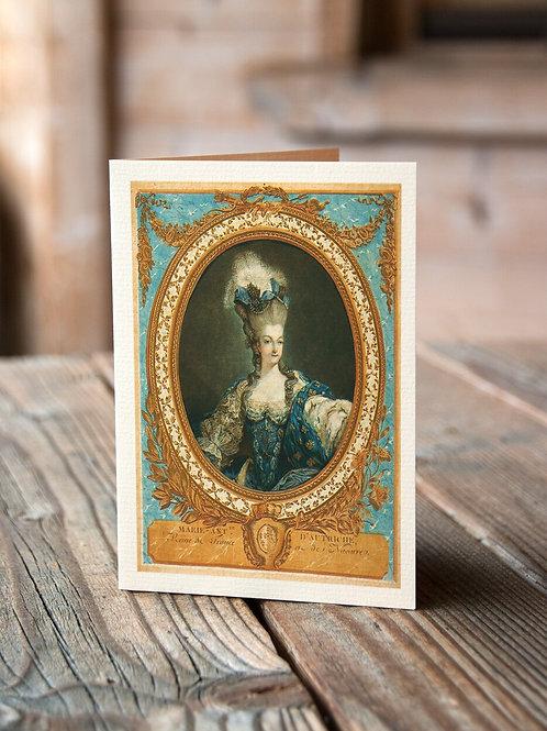 Marie Antoinette Print-No.07-Blank Note Card