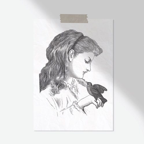 Victorian Print-No.8877-Blank Note Card