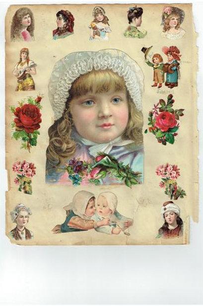 Vintage Victorian Scrapbook Page No. 225