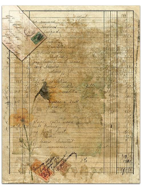 Vintage Paper Background Page Sheet- No 423013-Digital Download