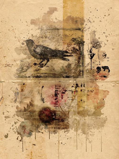 Watercolor Collage No.098