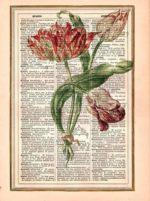 Vintage Book Page Art Print No. 2298