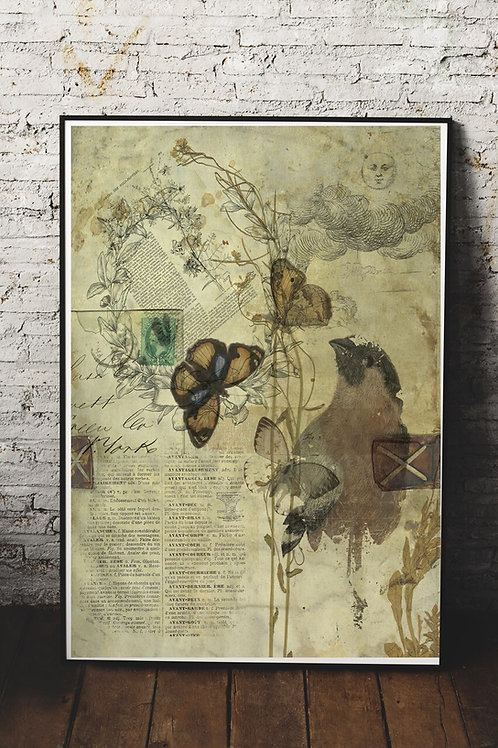 Nature Collage Print-No. 301