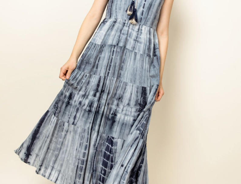 THML Tiered TieDye Maxi Dress