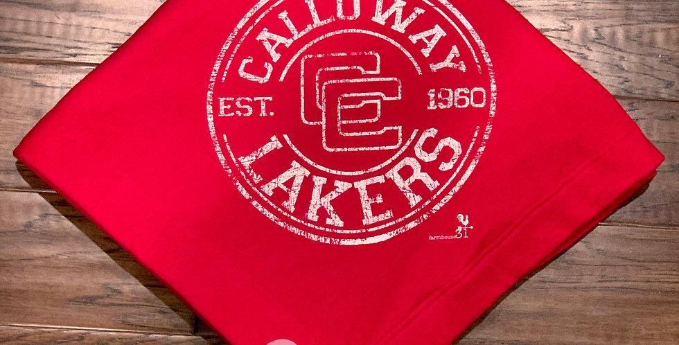Calloway Lakers sweatshirt blanket