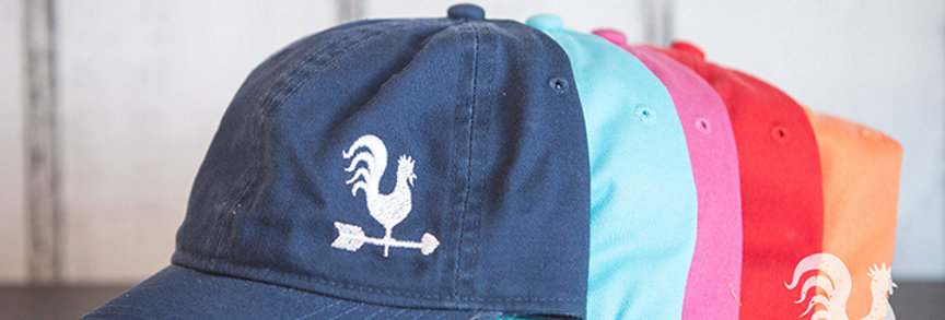 Comfort Colors Solid Hats with Embroidered Rooster