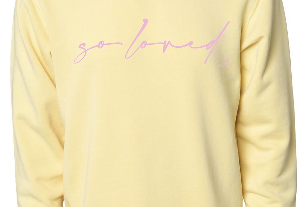 So Loved - crewneck sweatshirt -butter