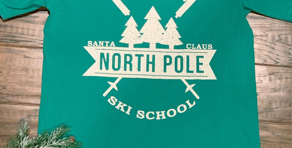 Santa Claus North Pole Ski School tee