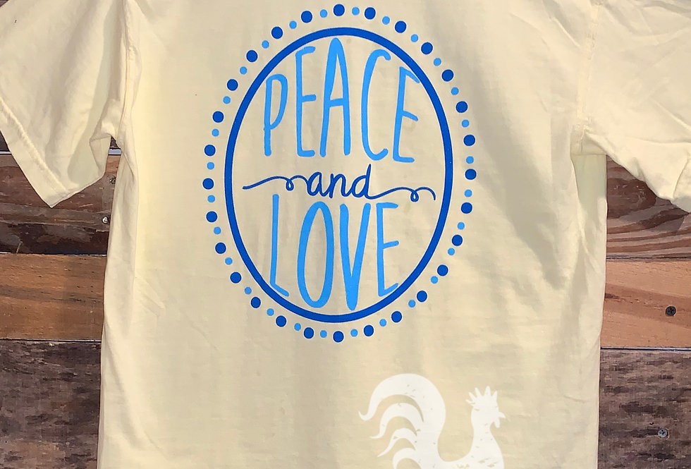 Peace and Love tee