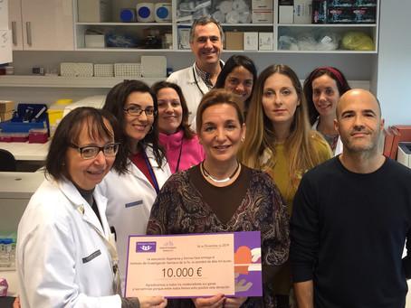 Esperanza y Sonrisa dona 10.000 euros al Instituto de Investigación Sanitaria La Fe