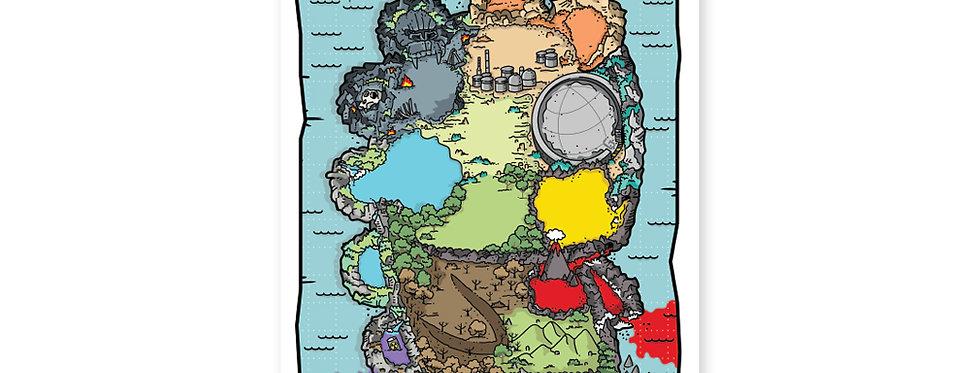 Jerkzilla Monster Island Map