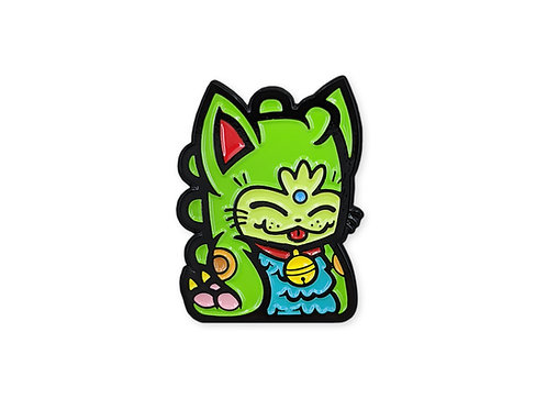 Green Fortune Dino Cat
