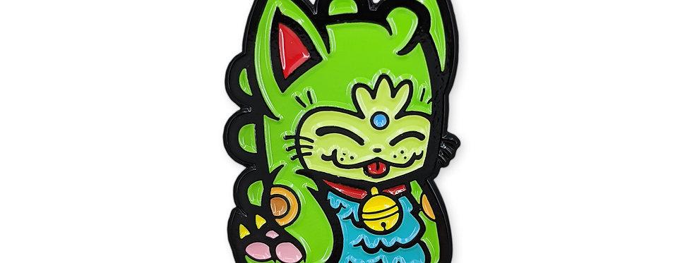 Green Fortune Dino Cat
