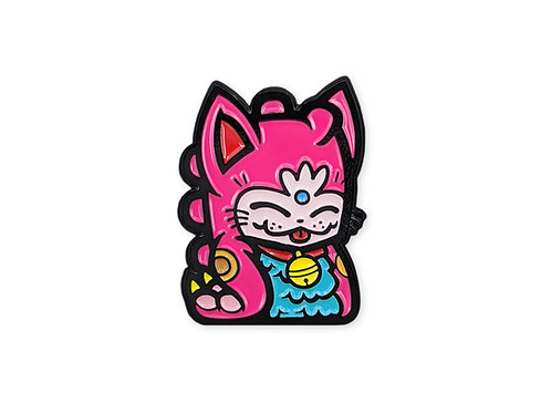 Pink Fortune Dino Cat