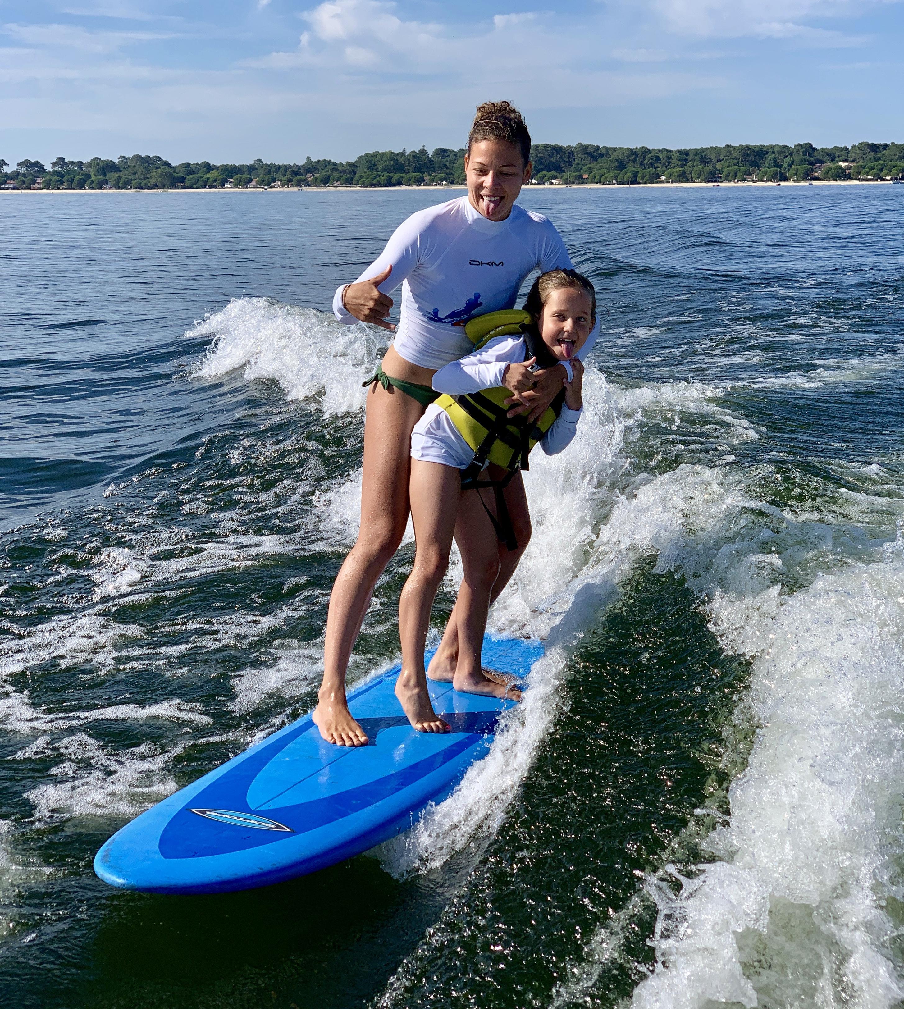 Binôme wakesurf