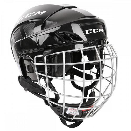 CCM FitLite40 Hockey Helmet Combo