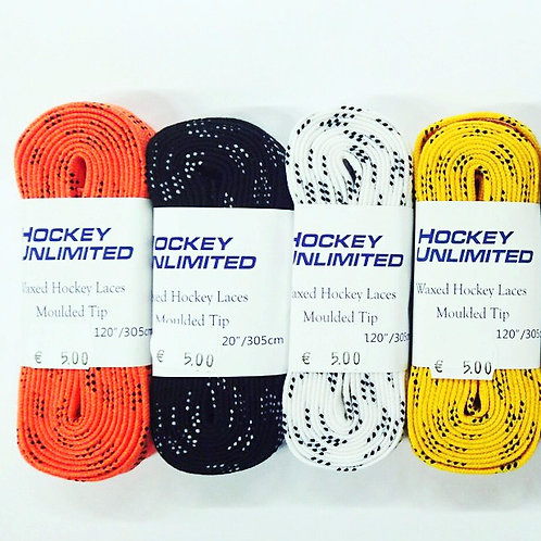 Unlimited Colored Cloth Hockey Skate Laces