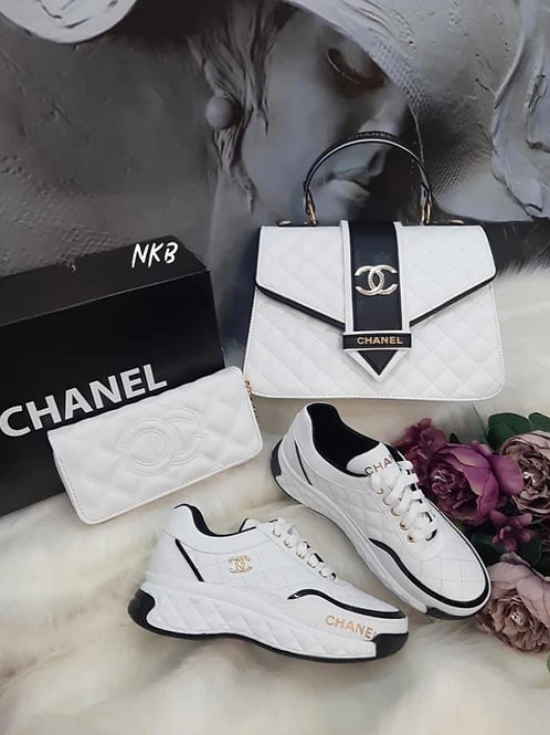 White Collection Tennis Shoes and Purse in 9 Styles