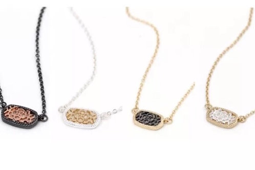 Metal Filigree Necklace Available in 11 Metal Tones