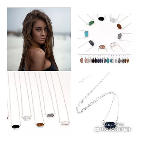 Complete Drusy Set in Silver Tone Available in 9 Colors