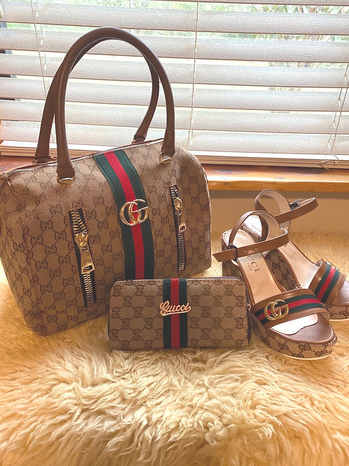 Summer Collection Chunky Sandals, Purse and Matching Wallet