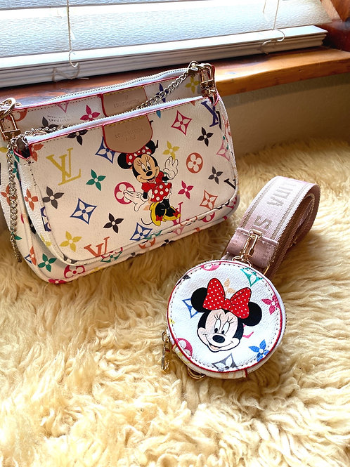 Disneyland Ready! Mickey and Minnie Mouse LV Pouchette Purse