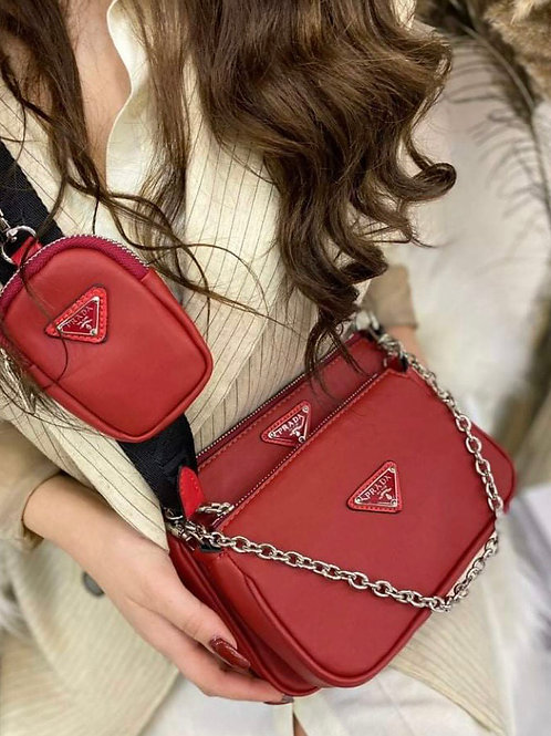 Designer Cross Body Purse with Matching Pouch in 4 Colors