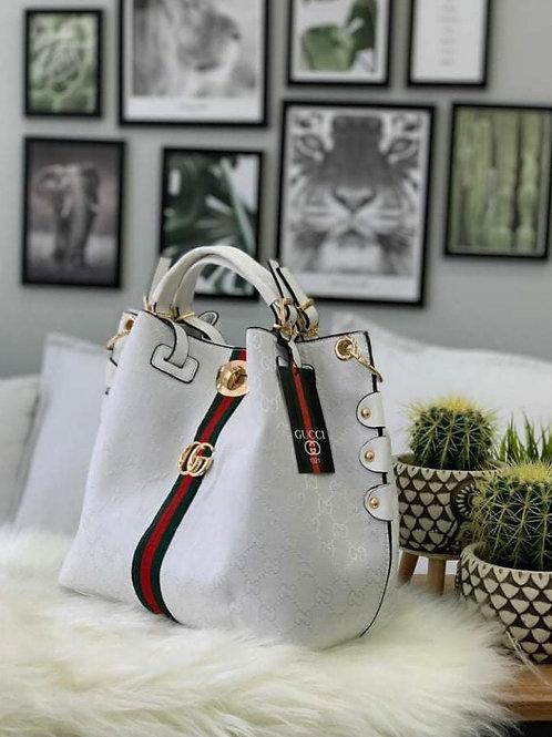 Designer Slouch Hobo Purse in Classic White