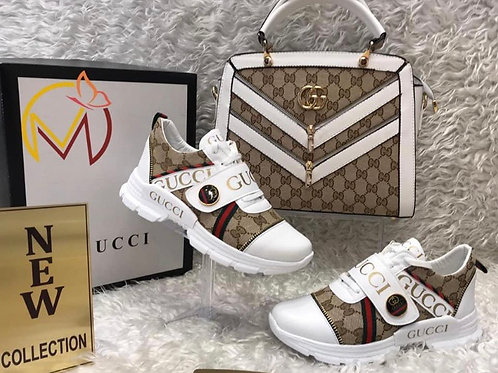 Designer Set Fashion Sneaker with Matching Purse and Wallet in 5 Colors