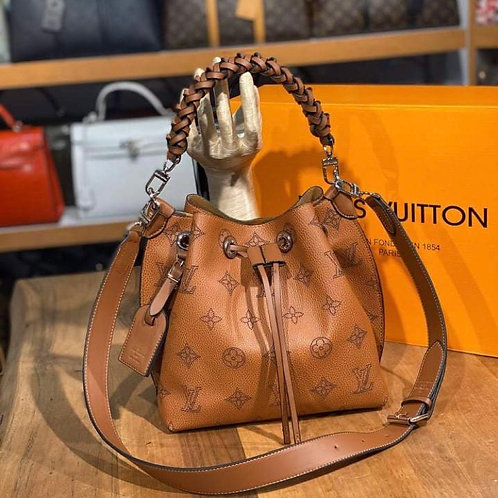 Leather Hobo Braided Handle Purse in 6 Colors