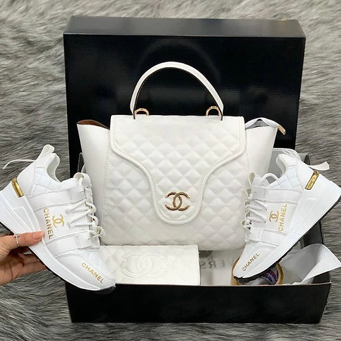Designer Angelic White Collection Matching Purse and Wallet in 4 Style Choices