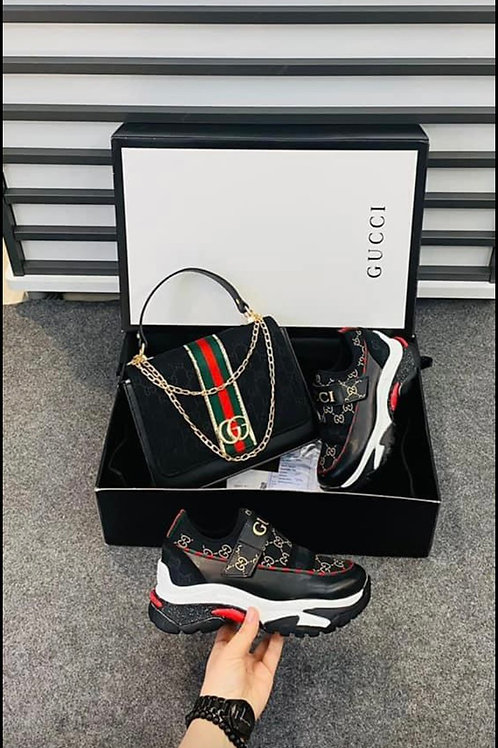 Designer Tennis Shoe and Matching Clutch