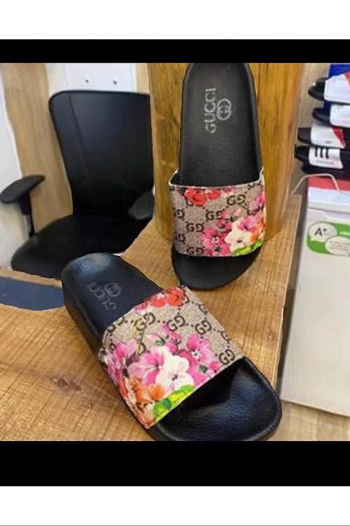 Designer Summer Slides in Flower Design