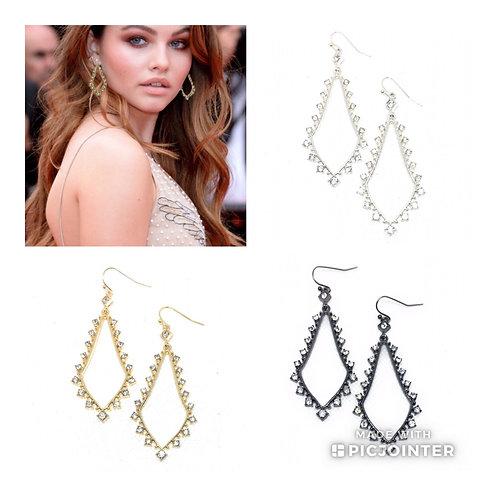 NEW Single Drop Bell Diamond Faux Earrings in 4 Colors