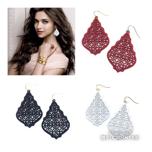 New 3D Colored Filigree Earrings in 10 Colors