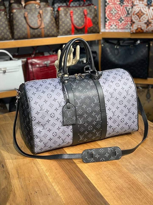 Designer Monogram Travel Shoulder Duffel Bag
