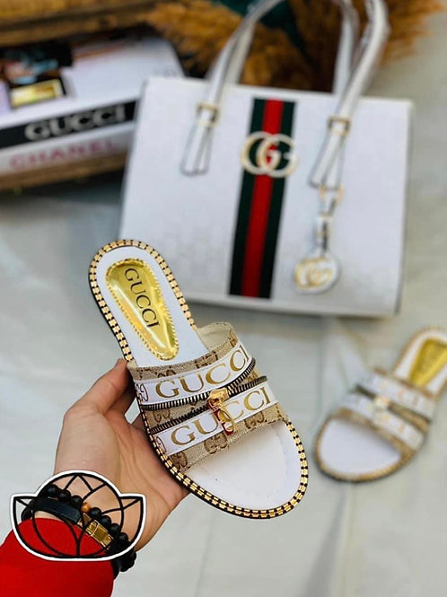 D'orsay Sandals with Matching Purse