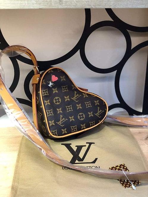 Limited Edition Designer Heart Monogram Shoulder Bag in 7 Color Styles
