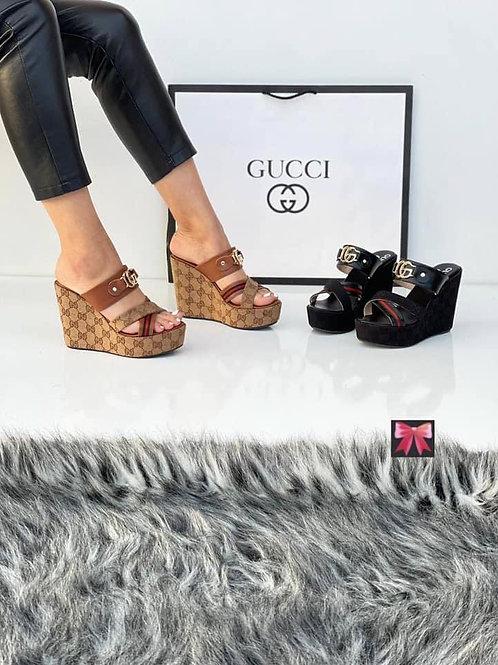 Designer Chunky High Heeled Sandals