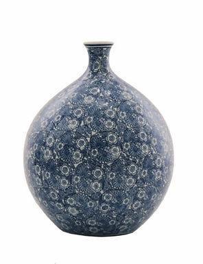 Delfts blauwe flower nekvaas XL porselein