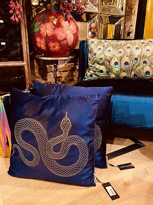 Kussen snake blue